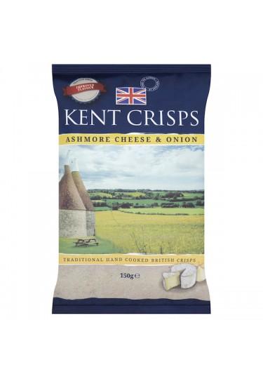 Kent Crisps Ashmore Cheese and Onion Kent Crisps 150g Bag