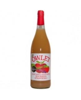 Owlett Apple Juice with Rhubarb & Strawberry 1L Bottle