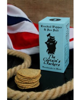 The Captains Crackers Pepper and Sea Salt