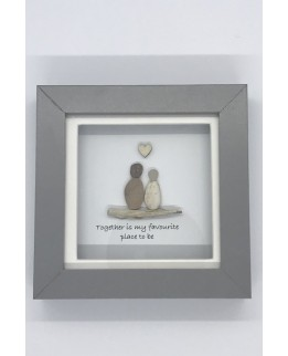 Pebble Art Picture - Together is my favourite place to be