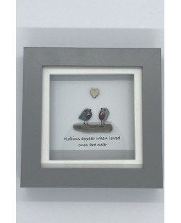 Pebble Art Picture - Robins appear when loved ones are near