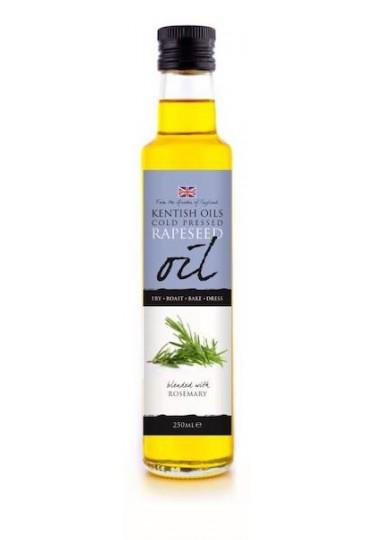 Kentish Oils Rapeseed Oil blended with Rosemary 250ml Bottle